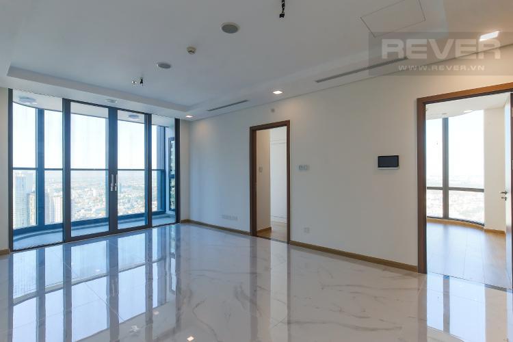 Phòng Khách Căn hộ Vinhomes Central Park 2PN, tầng cao, tháp Landmark 81, view sông