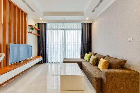 Căn hộ Vinhomes Central Park 3 phòng ngủ tầng trung L4 nội thất đầy đủ
