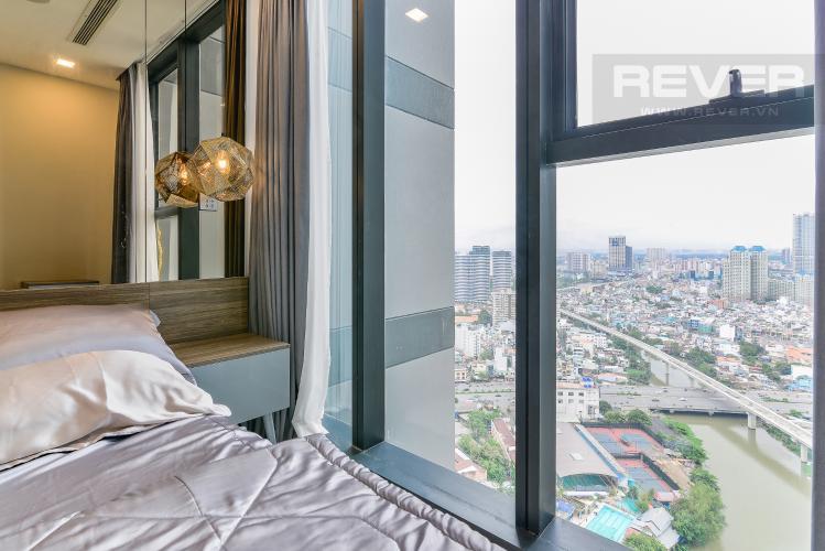 Phòng  Ngủ Căn hộ  Vinhomes Golden River tầng cao 1 phòng ngủ, 55m2, full nội thất