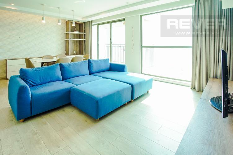 Phòng Khách Cho thuê căn hộ Riviera Point 2PN, tầng cao, đầy đủ nội thất, view sông thoáng mát
