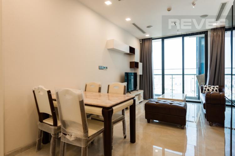 Bàn ăn Căn hộ Vinhomes Golden River tầng cao 1PN, nội thất đầy đủ