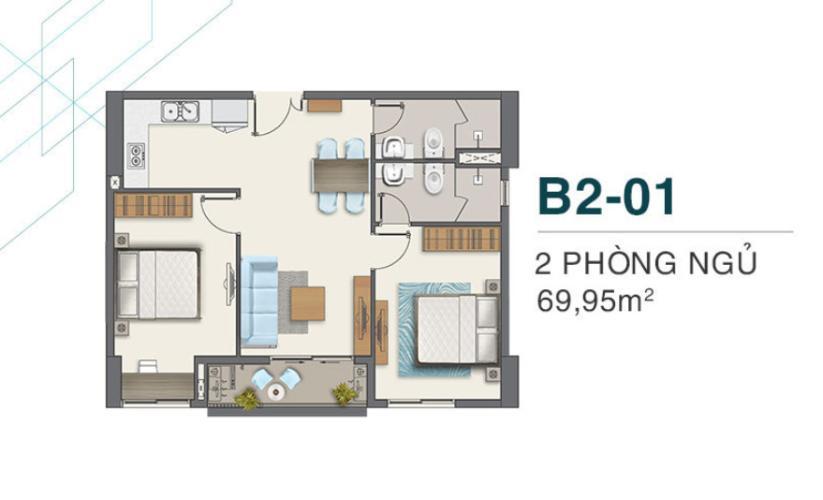 layout Q7 Boulevard Căn hộ Q7 Boulevard nội thất cơ bản, tiện ích cao cấp.