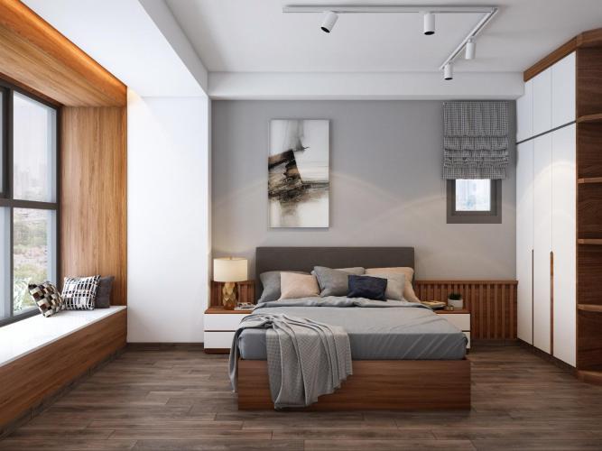 Phòng ngủ Bán căn hộ 2 phòng ngủ Happy Residence tầng thấp, diện tích 69.18m2, thiết kế hiện đại, nội thất cơ bản.
