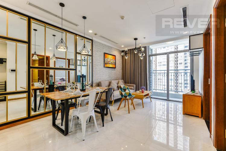 Phòng khách Căn hộ Vinhomes Central Park 1 phòng ngủ tầng trung C2 view sông