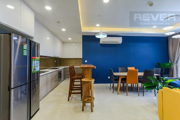 Phòng Bếp Cho thuê căn hộ Masteri Millennium tầng trung 3PN đầy đủ nội thất, diện tích rộng rãi