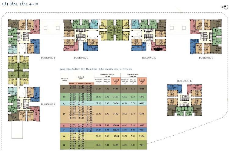 Mặt bằng tầng Saigon South Residence  Căn hộ Saigon South Residence nội thất đầy đủ, hướng Bắc.