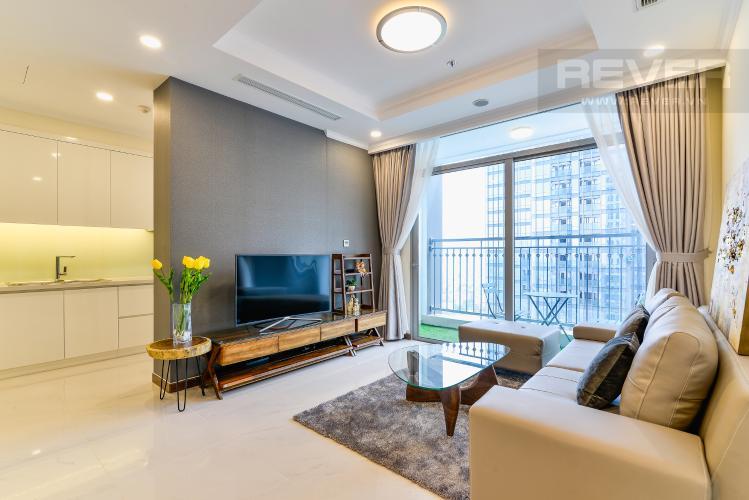 Phòng Khách Căn hộ Vinhomes Central Park 3 phòng ngủ tầng cao L6 nội thất có sẵn
