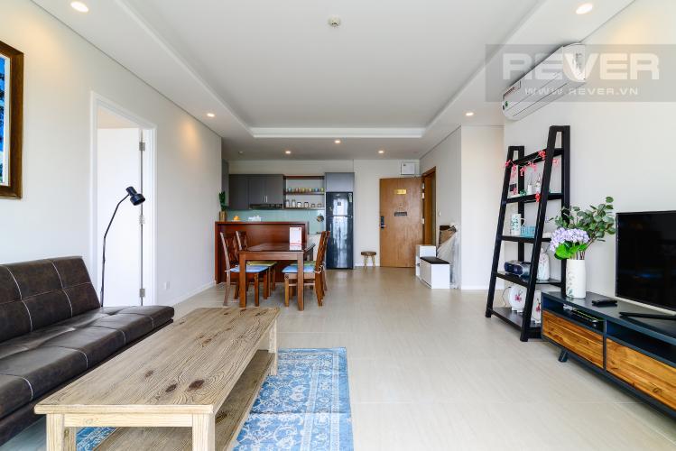 Phòng Khách Cho thuê căn hộ Đảo Kim Cương 2PN tầng trung tháp Bora Bora, đầy đủ nội thất, view sông yên tĩnh