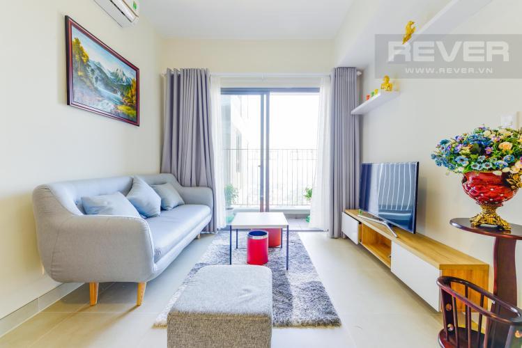 Phòng khách Căn góc Masteri Thảo Điền 2 phòng ngủ tầng cao T1 nội thất đầy đủ