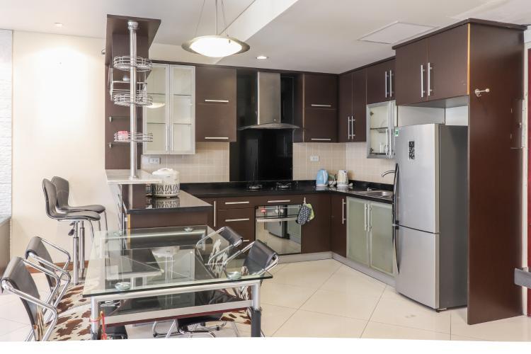 Phòng Bếp & Bàn Ăn Cho thuê căn hộ The Lancaster 2PN, tầng thấp, đầy đủ nội thất, hướng Bắc