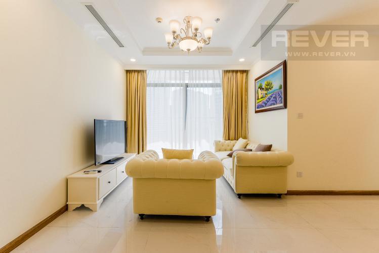 Phòng khách Căn hộ Vinhomes Central Park tầng cao, 3PN, đầy đủ nội thất