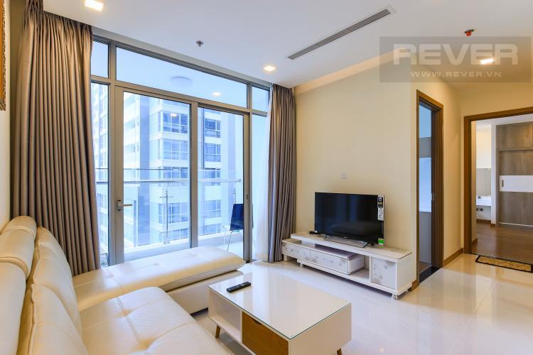 Phòng Khách Căn hộ Vinhomes Central Park 2 phòng ngủ, tầng cao P6, view sông