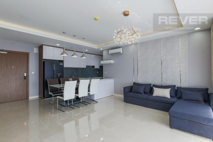 Phòng Khách Bán căn hộ Masteri Millennium tầng cao, block B, 3PN đầy đủ nội thất