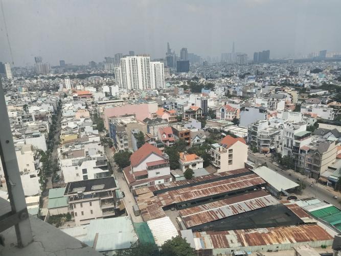 View ban công Hoàng Anh Thanh Bình Căn hộ Hoàng Anh Thanh Bình tầng cao, nội thất cơ bản.