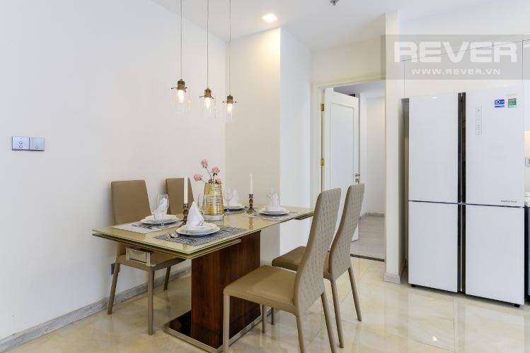 Phòng Ăn Cho thuê căn hộ Vinhomes Golden River 2PN, tầng cao, tháp The Aqua 1, đầy đủ nội thất