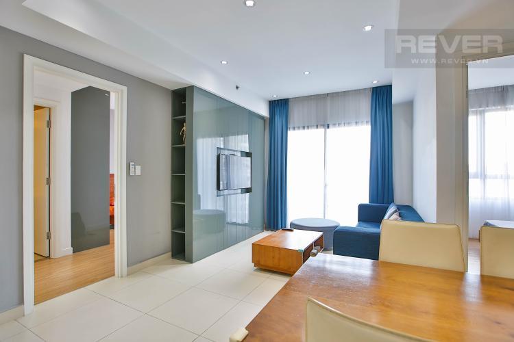 Phòng Khách Bán căn hộ Masteri Thảo Điền tầng trung, 2PN, view hồ bơi và bao quát thành phố
