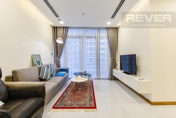 Phòng khách Căn hộ Vinhomes Central Park tháp 1, tầng trung, đầy đủ nội thất