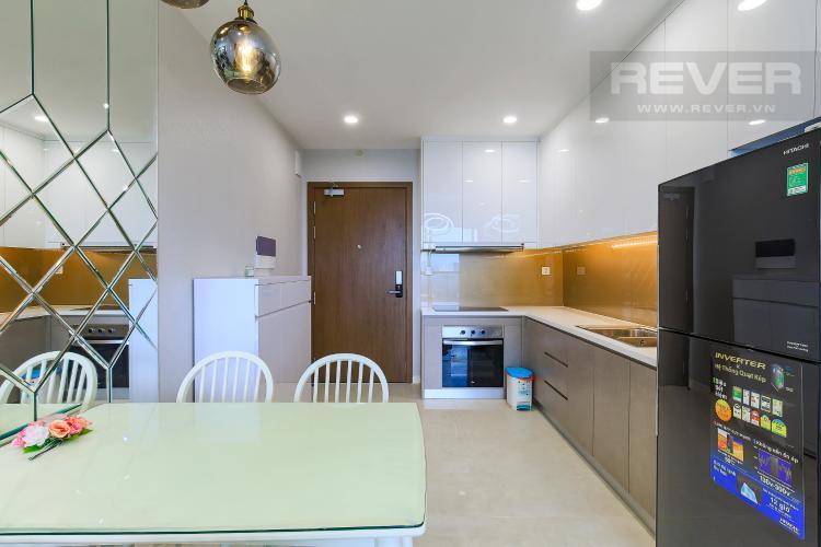 Phòng Bếp Cho thuê căn hộ Masteri Millennium tầng cao, 2PN đầy đủ nội thất view sông