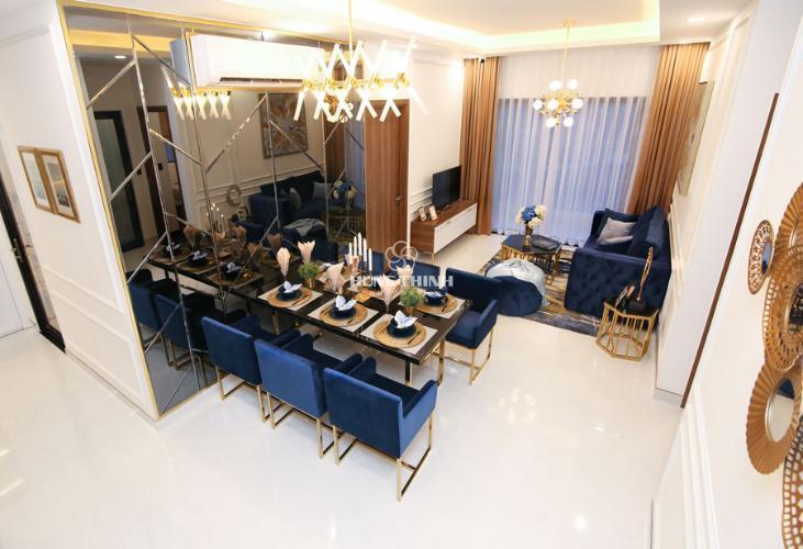 Phòng khách căn hộ Q7 Saigon Riverside Bán căn hộ Q7 Saigon Riverside tầng cao, view hồ bơi nội khu.