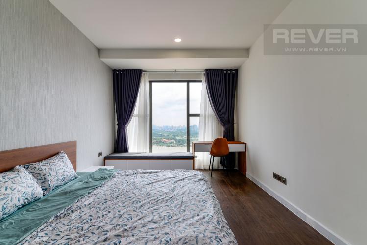 Phòng Ngủ 2 Cho thuê căn hộ Saigon Royal 2PN, tầng cao, tháp A, đầy đủ nội thất, view sông Sài Gòn và tháp Bitexco