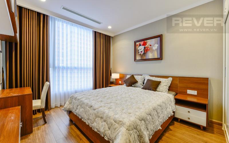 phòng ngủ 3 Căn hộ Vinhomes Central Park tầng cao Landmark 3 thiết kế đẹp, view sông