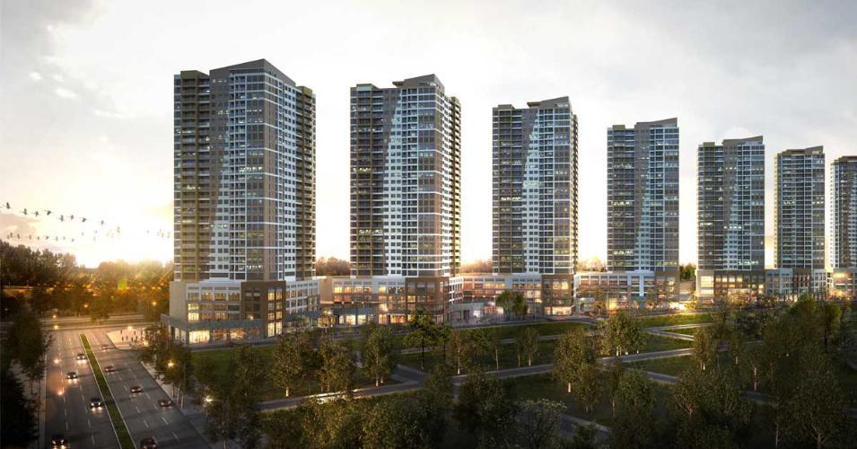 Dự án căn hộ The Sun Avenue Căn hộ The Sun Avenue tầng trung, view sông và hồ bơi.