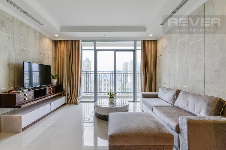 Phòng Khách Căn hộ Vinhomes Central Park 3 phòng ngủ tầng trung C3 đầy đủ nội thất