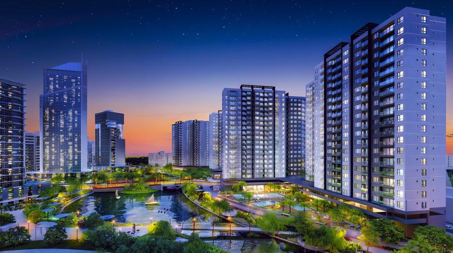 Tổng quan khu đô thị Mizuki Park, Bình Chánh Căn hộ Mizuki Park tầng 3, view đường đại lộ thương mại.