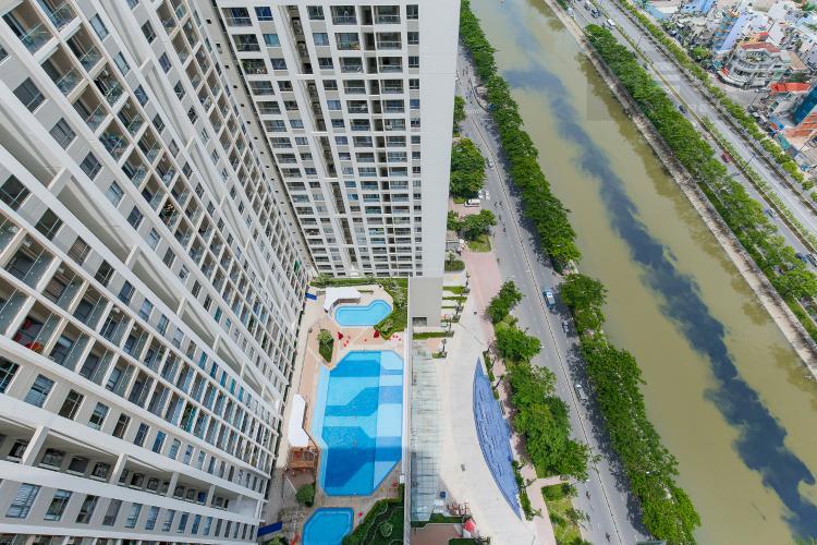 View Căn hộ The Gold View 2 phòng ngủ tầng cao A3 hướng Tây Nam