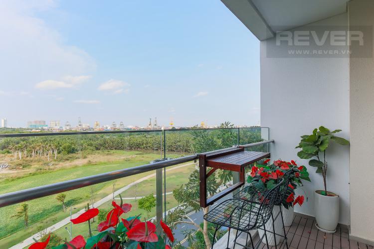 Balcony Cho thuê căn hộ Sarica Sala Đại Quang Minh 3PN, đầy đủ nội thất, view công viên mát mẻ