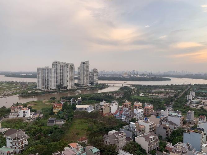 View cảnh căn hộ The Sun Avenue Căn hộ The Sun Avenue tầng 19, view thành phố sầm uất.