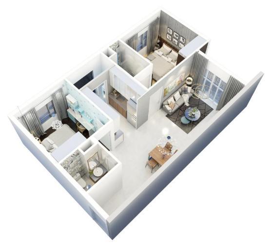 Layout căn hộ Metro Star , Quận 9 Bán căn hộ Metro Star tầng 14 cửa hướng Đông, nội thất cơ bản.