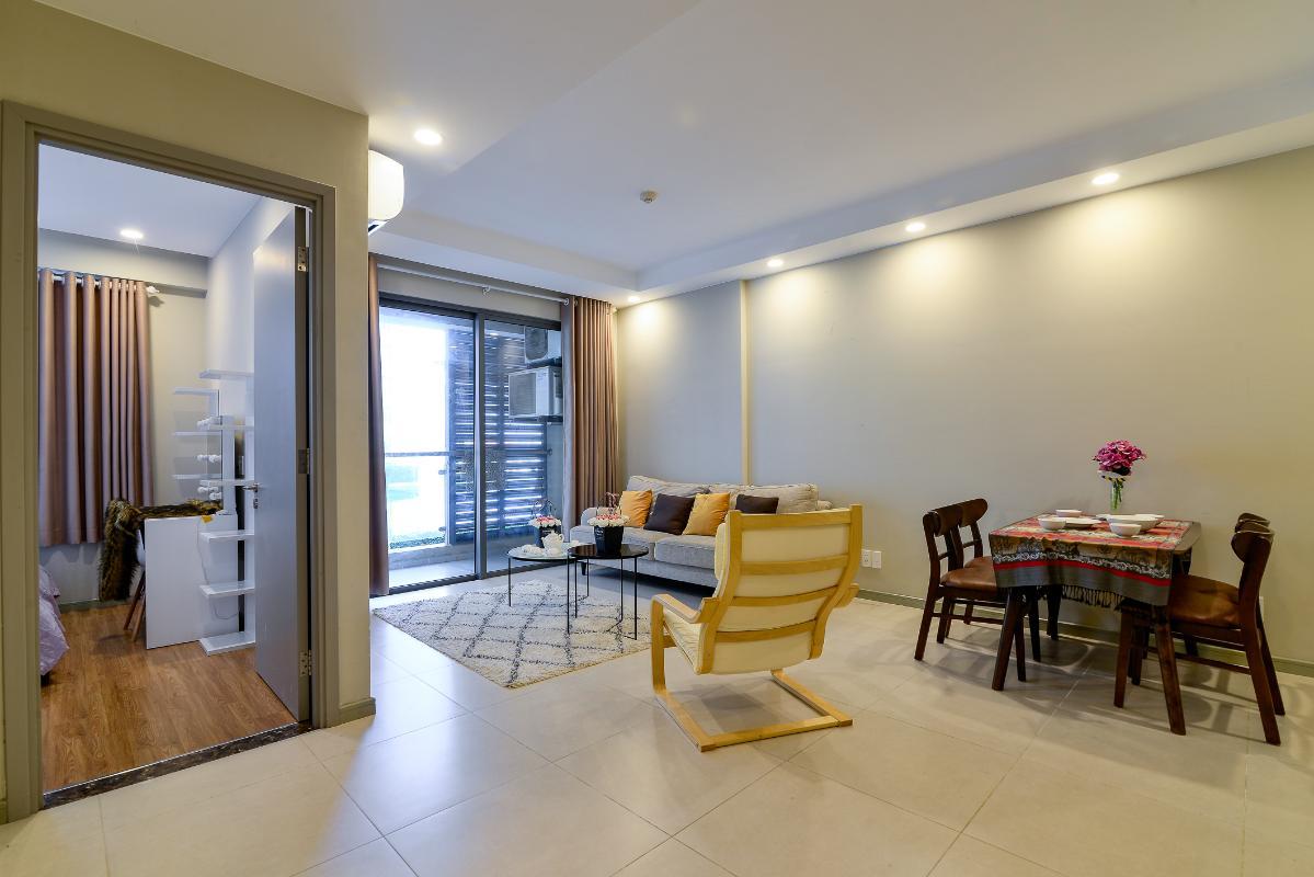 cover Bán căn hộ The Gold View 1 phòng ngủ, diện tích 50m2, đầy đủ nội thất, view hồ bơi, hướng Tây Nam
