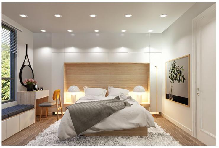 Phối cảnh căn hộ Topaz Elite Căn hộ 3 phòng ngủ Topaz Elite ban công hướng Tây Bắc.