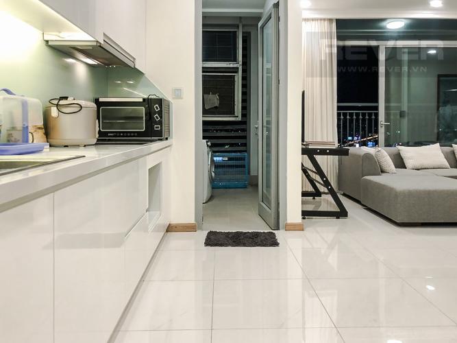 Phòng Bếp Cho thuê căn hộ Vinhomes Central Park 2PN 2WC, đầy đủ nội thất, view thành phố