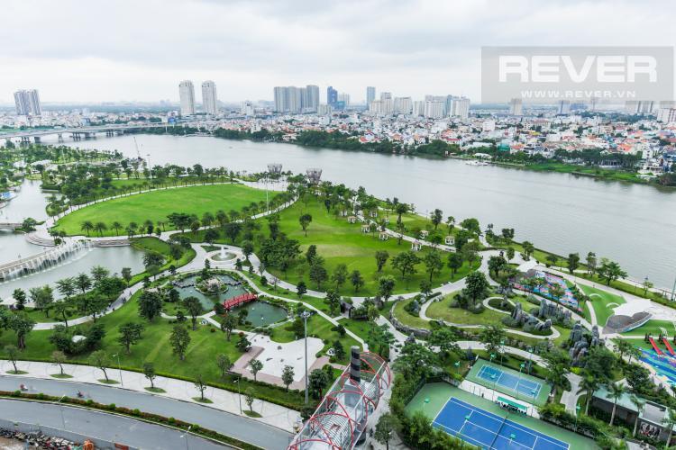 View Căn hộ Vinhomes Central Park tầng trung Park 2 mới bàn giao, view sông thoáng mát