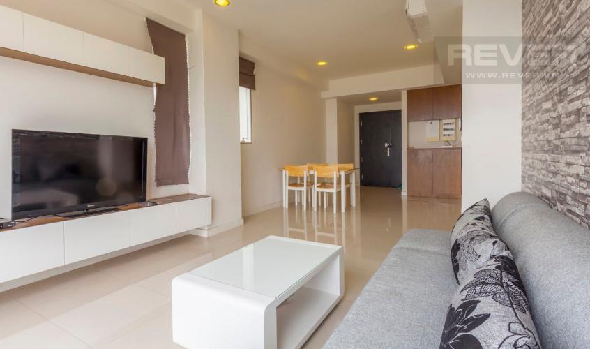 Phòng Khách Căn hộ Sunrise City 2 phòng ngủ tầng thấp V4 đầy đủ nội thất