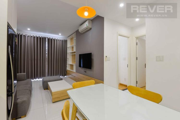 Phòng Khách Cho thuê căn hộ Tropic Garden 2PN, tầng thấp, đầy đủ nội thất, hướng Đông đón gió