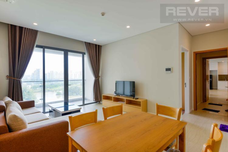 Phòng Khách 2 Bán hoặc cho thuê căn hộ dual key Diamond Island - Đảo Kim Cương 3PN, đầy đủ nội thất, view sông thoáng mát
