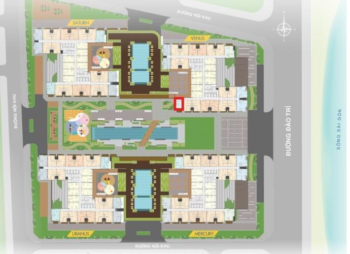 Mặt bằng căn hộ Q7 Saigon Riverside Bán căn hộ Q7 Saigon Riverside nhìn về hồ bơi nội khu, nội thất cơ bản
