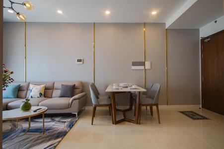 Cho thuê căn hộ Masteri Millennium 2 phòng ngủ, tầng thấp, đầy đủ nội thất, view sông thoáng đãng