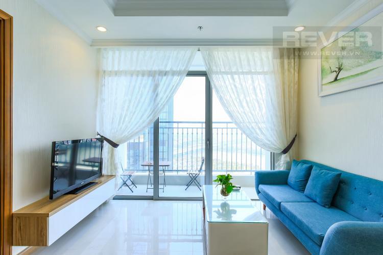 Phòng Khách Căn hộ Vinhomes Central Park tầng cao L2, 3 phòng ngủ, nội thất đầy đủ