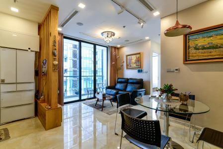 Bán căn hộ Vinhomes Golden River 2PN, tầng cao, đầy đủ nội thất, view sông thoáng mát