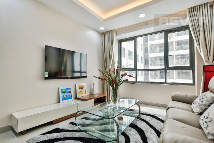Phòng Khách Căn hộ The Gold View 2 phòng ngủ tầng thấp A1 đầy đủ nội thất