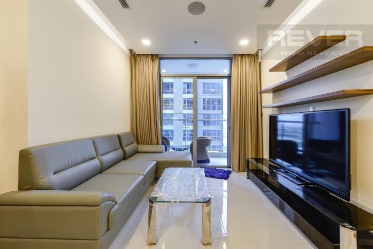 Phòng khách Căn hộ Vinhomes Central Park 3 phòng ngủ tầng trung P6 view sông