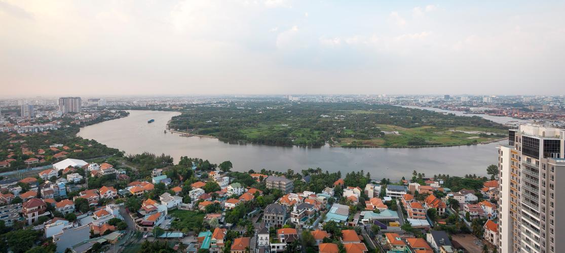 View Căn hộ Masteri Thảo Điền 4 phòng ngủ tầng cao T4 view sông