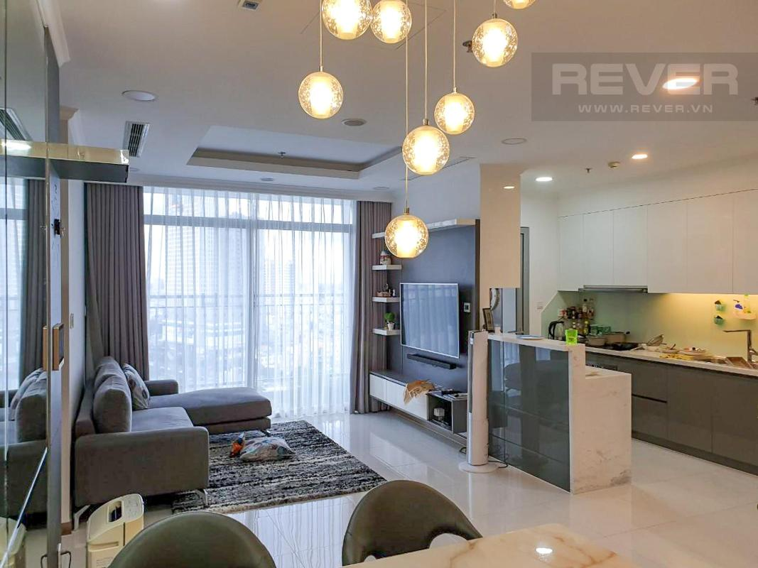 Phòng Khách Cho thuê căn hộ Vinhomes Central Park 3PN, tầng thấp, đầy đủ nội thất, view thành phố
