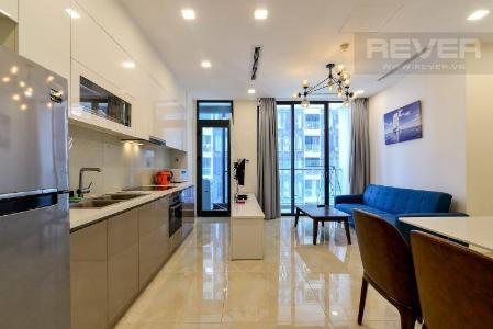 Bán căn hộ Vinhomes Golden River 1PN, tầng 6, đầy đủ nội thất, ban công Đông Bắc