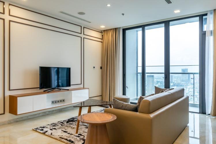 Phòng Khách Cho thuê căn hộ Vinhomes Golden River 3PN 2WC, đầy đủ nội thất, view thành phố