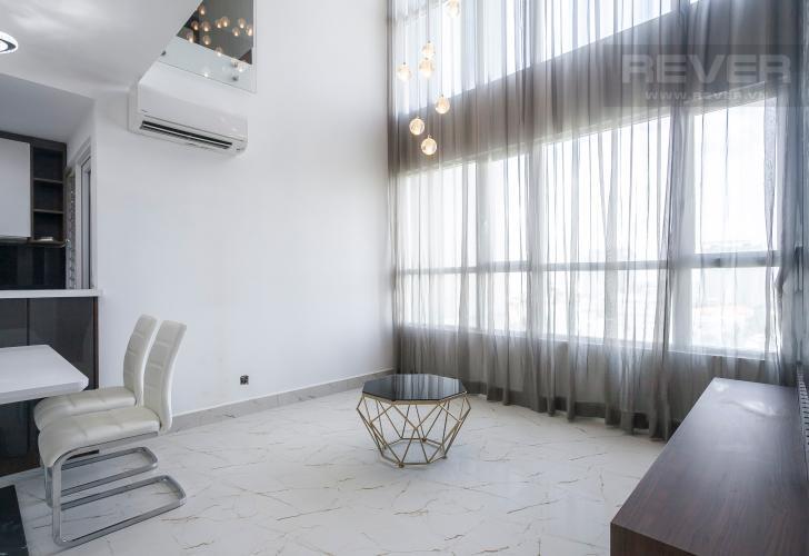 Phòng Khách Duplex Vista Verde 2 phòng ngủ, tầng thấp, tháp T1, nội thất đầy đủ